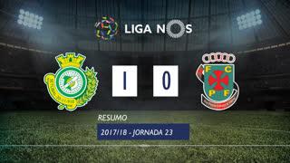 Liga NOS (23ªJ): Resumo Vitória FC 1-0 FC P.Ferreira