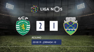 Liga NOS (10ªJ): Resumo Sporting CP 2-1 GD Chaves