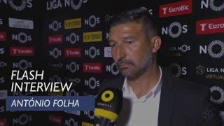 Liga (24ª): Flash Interview António Folha