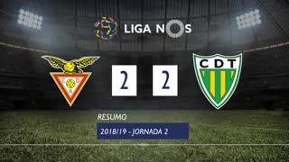 Liga NOS (2ªJ): Resumo CD Aves 2-2 CD Tondela