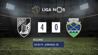 Liga NOS (28ªJ): Resumo Vitória SC 4-0 GD Chaves
