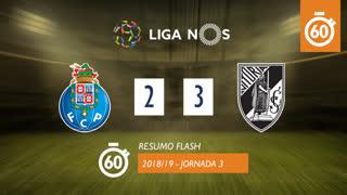 Liga NOS (3ªJ): Resumo Flash FC Porto 2-3 Vitória SC