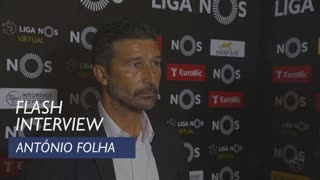 Liga (12ª): Flash interview António Folha