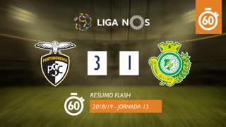 Liga NOS (13ªJ): Resumo Flash Portimonense 3-1 Vitória FC