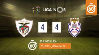 Liga NOS (33ªJ): Resumo Flash Santa Clara 4-4 CD Feirense