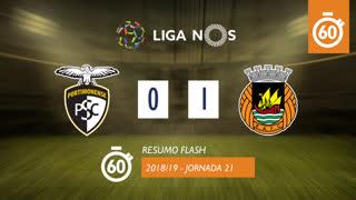 Liga NOS (21ªJ): Resumo Flash Portimonense 0-1 Rio Ave FC