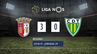 Liga NOS (29ªJ): Resumo SC Braga 3-0 CD Tondela