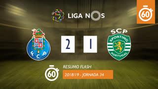 I Liga (34ªJ): Resumo Flash FC Porto 2-1 Sporting CP