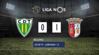 Liga NOS (12ªJ): Resumo CD Tondela 0-1 SC Braga