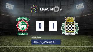 Liga NOS (34ªJ): Resumo Marítimo M. 0-1 Boavista FC