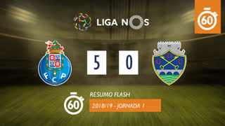 Liga NOS (1ªJ): Resumo Flash FC Porto 5-0 GD Chaves