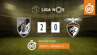 Liga NOS (22ªJ): Resumo Flash Vitória SC 2-0 Portimonense