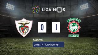 Liga NOS (18ªJ): Resumo Sta. Clara 0-1 Marítimo M.