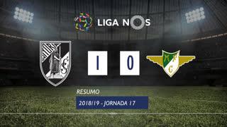 Liga NOS (17ªJ): Resumo Vitória SC 1-0 Moreirense FC