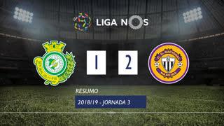 Liga NOS (3ªJ): Resumo Vitória FC 1-2 CD Nacional