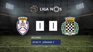 Liga NOS (3ªJ): Resumo CD Feirense 1-1 Boavista FC