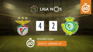 Liga NOS (29ªJ): Resumo Flash SL Benfica 4-2 Vitória FC