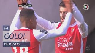 GOLO! SC Braga, Paulinho aos 64', SC Braga 2-0 CD Tondela