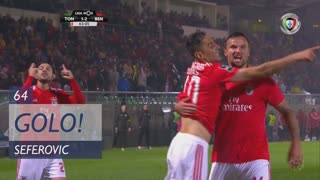 GOLO! SL Benfica, Seferovic aos 64', CD Tondela 1-2 SL Benfica