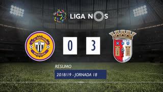 Liga NOS (18ªJ): Resumo CD Nacional 0-3 SC Braga