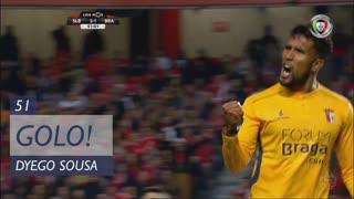 GOLO! SC Braga, Dyego Sousa aos 51', SL Benfica 3-1 SC Braga