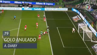 Sporting CP, Golo Anulado, A. Diaby aos 79'