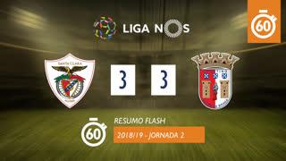 Liga NOS (2ªJ): Resumo Flash Sta. Clara 3-3 SC Braga
