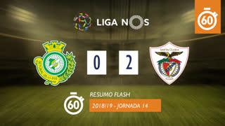 Liga NOS (14ªJ): Resumo Flash Vitória FC 0-2 Santa Clara