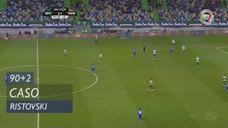 Sporting CP, Caso, Ristovski aos 90'+2'