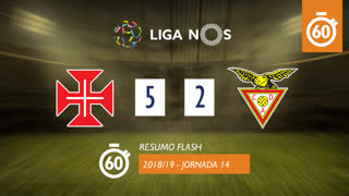 Liga NOS (14ªJ): Resumo Flash Belenenses SAD 5-2 CD Aves