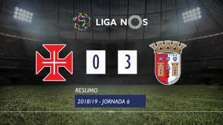 Liga NOS (6ªJ): Resumo Os Belenenses 0-3 SC Braga