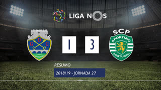 I Liga (27ªJ): Resumo GD Chaves 1-3 Sporting CP