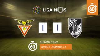 Liga NOS (13ªJ): Resumo Flash CD Aves 1-1 Vitória SC