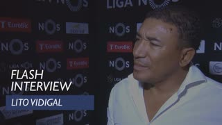 Liga (5ª): Flash interview Lito Vidigal