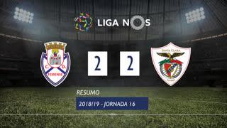 Liga NOS (16ªJ): Resumo CD Feirense 2-2 Sta. Clara
