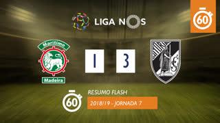 Liga NOS (7ªJ): Resumo Flash Marítimo M. 1-3 Vitória SC