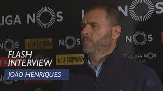 Liga (13ª): Flash interview João Henriques