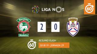 Liga NOS (29ªJ): Resumo Flash Marítimo M. 2-0 CD Feirense
