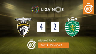 I Liga (7ªJ): Resumo Flash Portimonense 4-2 Sporting CP
