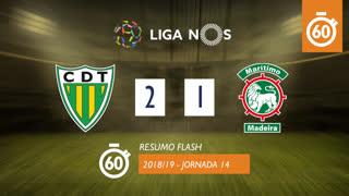 Liga NOS (14ªJ): Resumo Flash CD Tondela 2-1 Marítimo M.