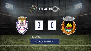 Liga NOS (1ªJ): Resumo CD Feirense 2-0 Rio Ave FC