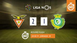 Liga NOS (18ªJ): Resumo Flash CD Aves 2-1 Vitória FC