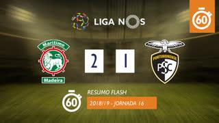 Liga NOS (16ªJ): Resumo Flash Marítimo M. 2-1 Portimonense