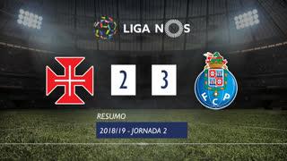 Liga NOS (2ªJ): Resumo Os Belenenses 2-3 FC Porto