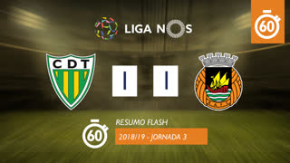Liga NOS (3ªJ): Resumo Flash CD Tondela 1-1 Rio Ave FC