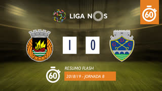 Liga NOS (8ªJ): Resumo Flash Rio Ave FC 1-0 GD Chaves