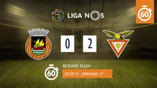 Liga NOS (27ªJ): Resumo Flash Rio Ave FC 0-2 CD Aves
