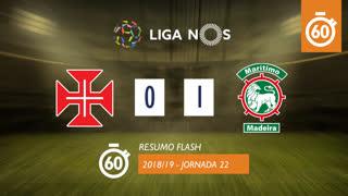 Liga NOS (22ªJ): Resumo Flash Belenenses 0-1 Marítimo M.