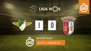 Liga NOS (28ªJ): Resumo Flash Moreirense FC 1-0 SC Braga