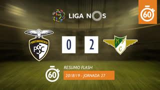 Liga NOS (27ªJ): Resumo Flash Portimonense 0-2 Moreirense FC